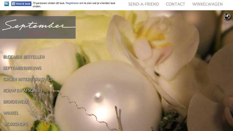 Website - September Bloemen, Venray