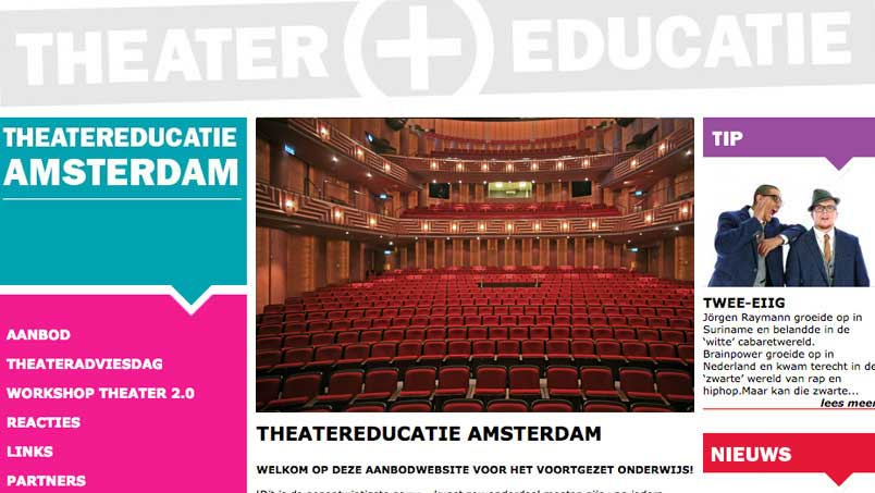 Website - Theater Educatie, Amsterdam